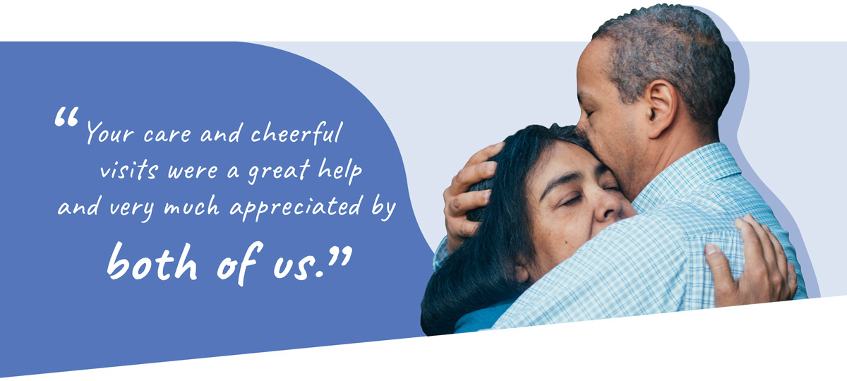 Quote and hug image banner